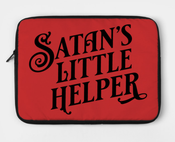 Satan's Little Helper laptop case
