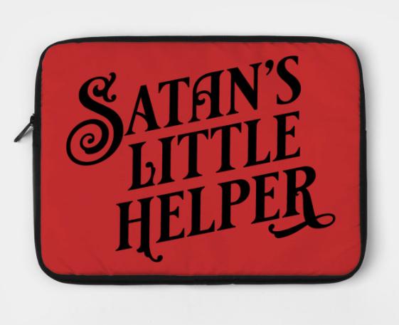 Satan's Little Helper laptop case