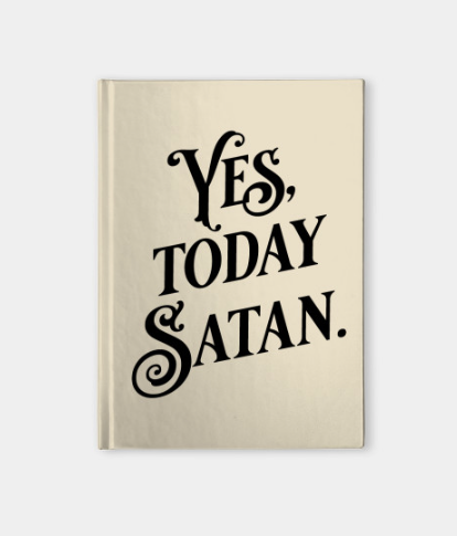 Satan's Little Helper notebook