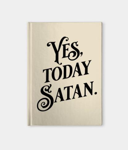 Satan's Little Helper notebook