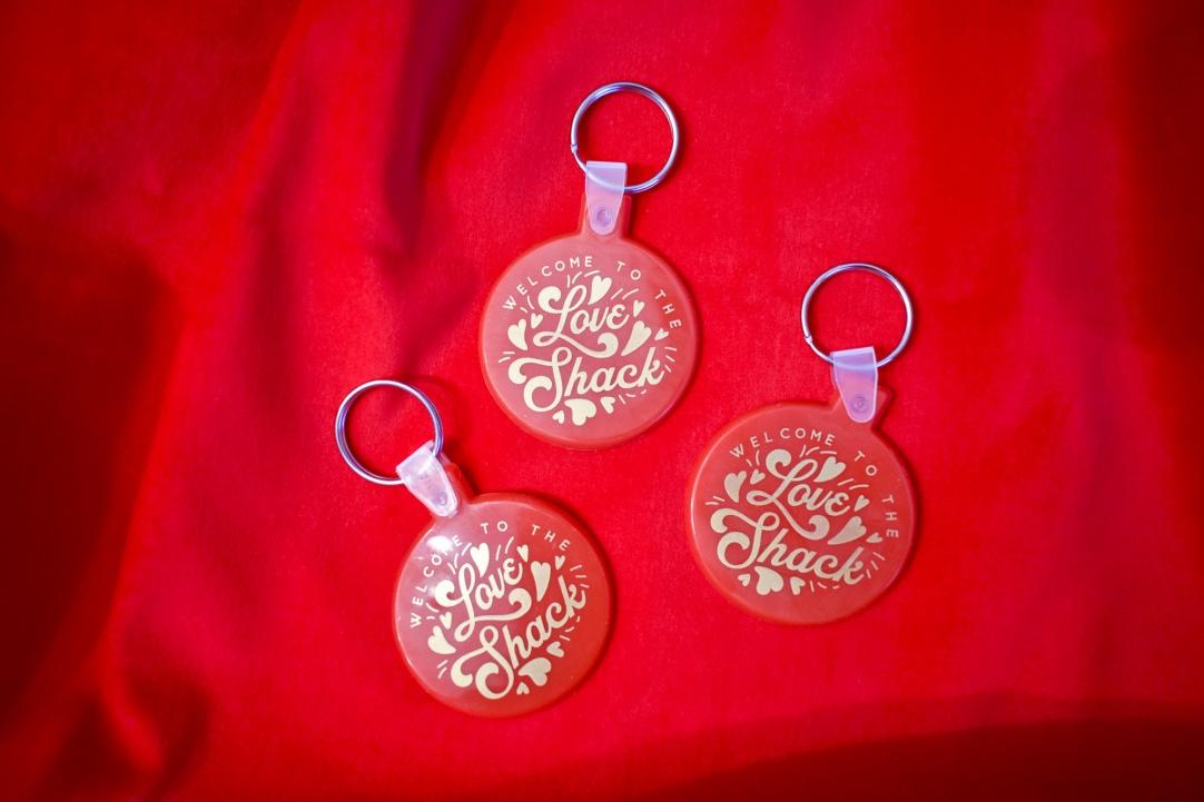 Love Shack keychain by Kodiak Milly