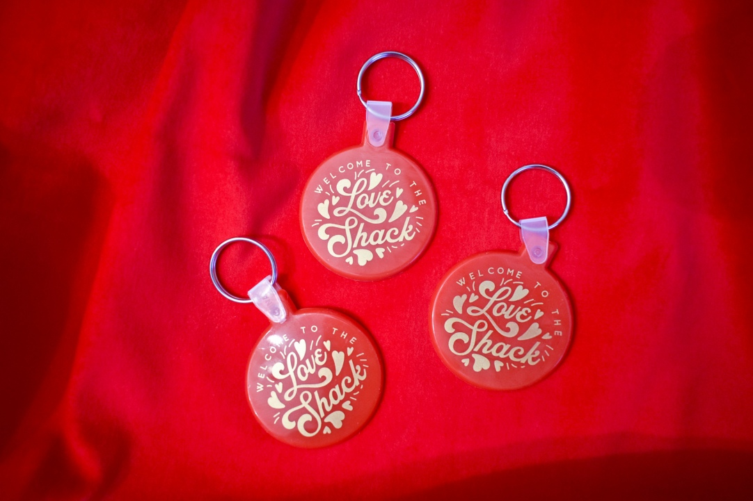 Love Shack keychain by Kodiak Milly