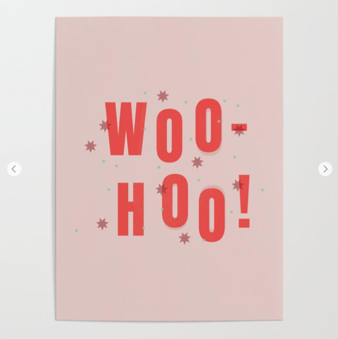 Woo Hoo pretty typography print by Kodiak Milly