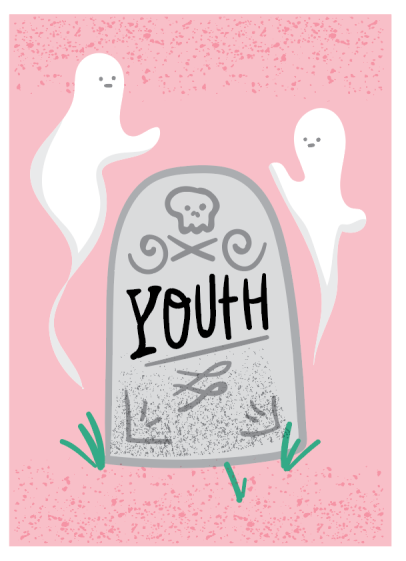 RIP Youth Funny Birthday Card by Kodiak Milly
