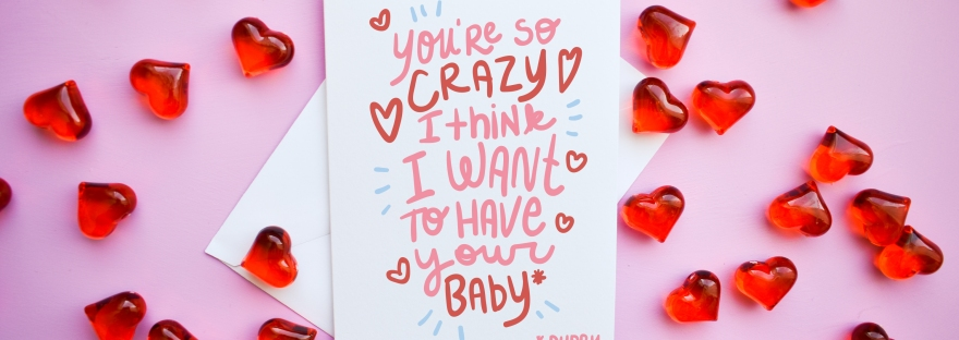 Funny Valentine's Day Card You So Crazy I Think I Want To Have Your Baby* *Puppy